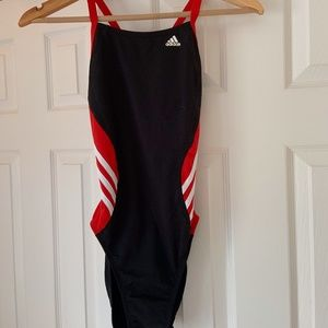 Adidas Solid Splice Vortex Black Swimsuit